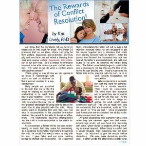 Image of The Rewards of Conflict Resolution Article by Kat Lively,PhD