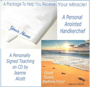 Image of ANOINTED PRAYER HANDKERCHIEF AND GOD GOES BEFORE YOU SIGNED TEACHING CD!