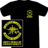 Image of 1-Black/Yellow Short Sleeve Medium Tee Shirt