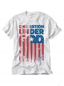Image of One Nation Under God White T-Shirt XL