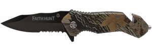 Image of Faith Hunt Nutwood Camo Rescue Knife