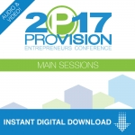 Image of Provision 2017 Main Sessions Audio and Video with Workshop Audio Download