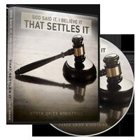 Image of God Said It, I Believe It, That Settles It CD
