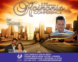 Image of 2018 Koinonia Conference - Pastor Wess Morgan - CD