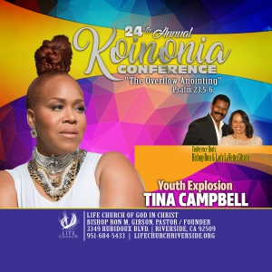 Image of CD - Evangelist Tina Campbell (Koinonia 2019)