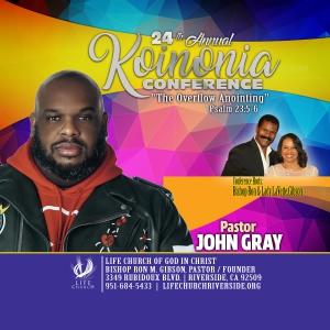 Image of DVD - Pastor John Gray (Koinonia 2019)