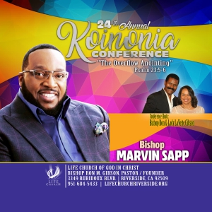 Image of DVD - Bishop Marvin Sapp (Koinonia 2019)