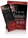 Image of 7 Places Jesus Shed His Blood Book With Bookmark