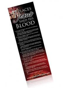 Image of 7 Places Jesus Shed His Blood Bookmark