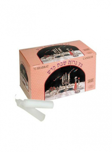 Image of White Candles (Box of 72)
