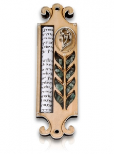 Image of Harvest Mezuzah With Scroll
