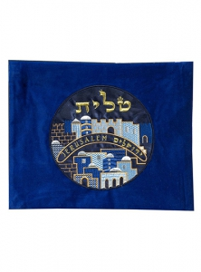 Image of City of Jerusalem Velvet Tallit Bag