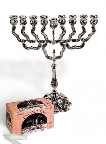Image of Light of the World Menorah with 72 White Candles