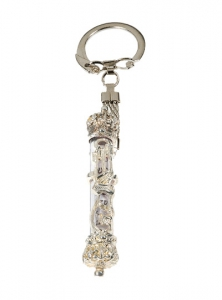 Image of Mezuzah Key Chain, Silver