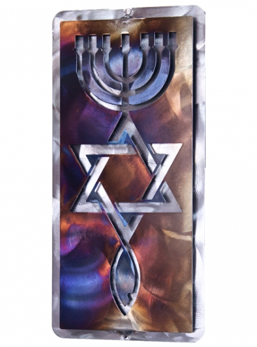 Image of Roots Symbol, Tempered Steel Wall Art