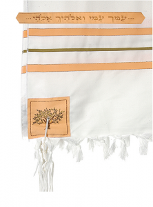 "Image of Ruth 24"" Wool Tallit with Matching Bag"