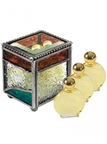 Image of Stained Glass Box With Three Anointing Oils