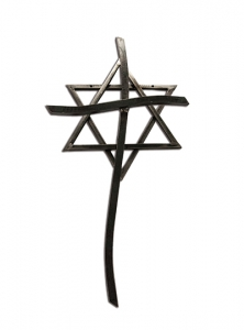 Image of Star of David and Cross Artwork