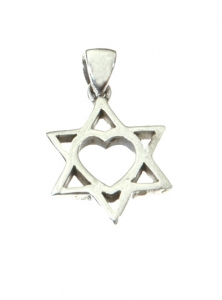 Image of Star of David Heart Necklace with Chain