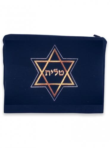 Image of Star of David Velvet Tallit Bag