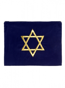 Image of Star of David Velvet Tallit Bag