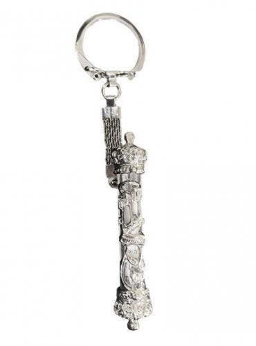 Image of Silver Tone Keychain Mezuzah