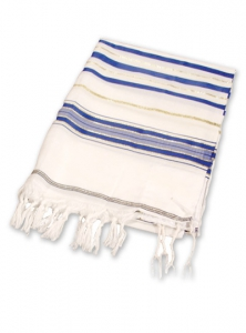 Image of 24 in Acrylic Israel Blue Tallit
