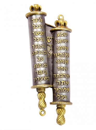 Image of Torah Scroll Mezuzah