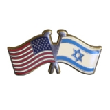 Image of U.S./Israel Lapel Pin