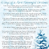 Image of Twelve Days To A More Meaningful Christmas