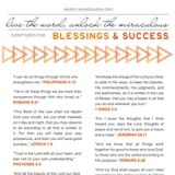 Image of Blessing and Success Scriptures
