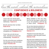 Image of Confidence and Boldness Scriptures