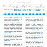Image of Healing and Strength Scriptures