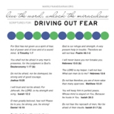 Image of Driving Out Fear Scriptures