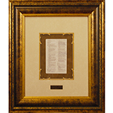 Image of Framed Bible Page