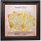 Image of Isaiah 53:5 Framed Parchment