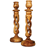 Image of Olivewood Twisted Candle Stick