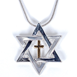 Image of Star of David Cross Necklace