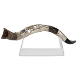 Image of Silver Plated Shofar with Stand