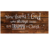 Image of Wood Wall Art - 2 Corinthians 2:14