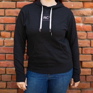 Image of Black Hoodie with Double String RC2