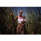 Image of Wall Art of Woman in the Reeds 16X20