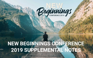 Image of New Beginnings Conference 2019 Supplemental Notes