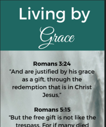 Living by Grace Bookmark | Unlimited Grace Ministries