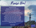 Image of Praise Him CardOur free gift to you!